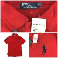 NWT New Polo Ralph Lauren Big Pony The Mesh Shirt Sz XXL 2X Bright Red