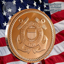 US Coast Guard Copper 1 oz .999 Copper Round Limited & Rare (not minted anymore)