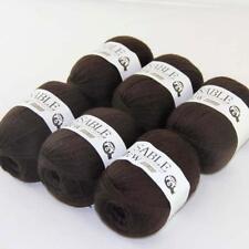6Ballsx50g Pure Sable Cashmere Hand Knitwear Wool Shawls S 00006000 oft Crochet Yarn 17
