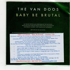 (FQ548) The Van Doos, Baby Be Brutal - DJ CD
