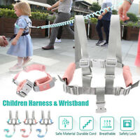 Child Harness Anti-lost Wrist Link Kid Wristband Rope Safety Strap w/ Key