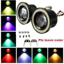 "Multi-Color RGB 3.5"" Projector LED Fog Light Lamp DRL w/ COB Halo Angel Eye Ring"