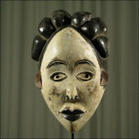 62781) Afrikanische Lumbo Holz Maske Gabun Afrika KUNST