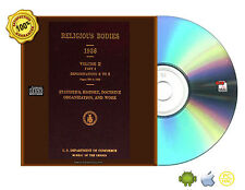 Religious Bodies, 1936 USA - Volume 1,2 Part 1 & 2 Denominations, A To Z eBookCD