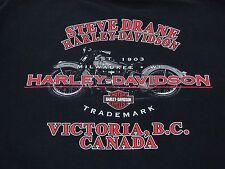 Harley Davidson Victoria BC Canada Size XL Milwaukee WI 1903 Steve Drane Black