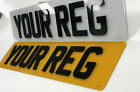 Pair Of 4d Laser Cut Acrylic Legal Car Registration Number Plates Front And Rear