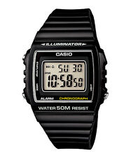 New Genuine CASIO W215H-1A DIGITAL SPORTS Unisex Quartz Watch 50M Alarm Black