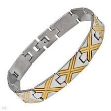 Bracelet  MENS  Stainless Steel   8 1/2 Inch NEW