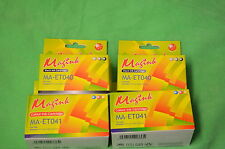 4 x inchiostri 2 X COLORE 2 x nero sostituisce T041 T040 Epson Stylus C62 CX3200