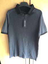 River Island Grey Men's Polo Top Shirt w/ Zip Detail BNWT - Size UK S Small
