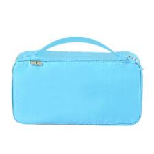 Portable Underwear Storage Bag Water-proof Travel Organizer Make-up Pouch Blue