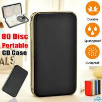 80 Disc Portable CD DVD Blu Ray Wallet Holder Bag Carry Case Organizer Storage