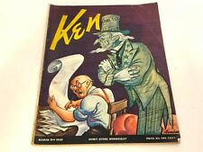 Vintage KEN Magazine March 9, 1939 VOL 3 NO 5 WW2/Nazi Comics/Girls Sports