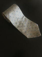 "TOMMY HILFIGER Floral And Window Pane 100% Silk Men's Neck Tie 56"" L 3.5"" W"