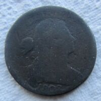 1802 1C BN Draped Bust Large Cent Minor Corrosion
