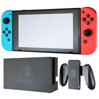 Nintendo Switch V2 Game Console - Black (HAC-001(-01) w/ OEM Blue/Red Joycon