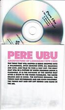 PERE UBU Architecture Of Language Sampler UK 3-trk promo only CD + press release