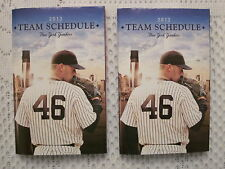2013 NY Yankees Andy Pettitte Pocket Schedules  Lot of 2