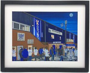 Bury FC Gigg Lane Stadium High Quality Framed Art Print. Approx A4.