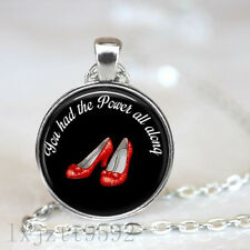 You had the power all along Wizard of Oz Quote Necklace Dorothy Ruby Slippers