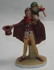 Vg+ 1974 Gorham Norman Rockwell Tiny Tim Porcelain Figurine Christmas B