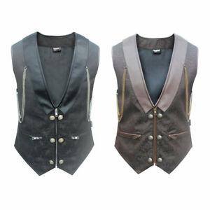 Gothic Steampunk Brokat Weste in braun oder schwarz Waistcoat black or brown