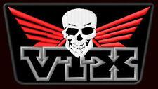 "HONDA VTX SKULL EMBROIDERED PATCH~5""x 2-3/4"" CRUISER MOTORCYCLE CUSTOM BIKE 1800"