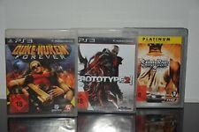 3 x PS3 Spiele - Duke Nukem - Prototype 2 - Saints Row - USK 18 - TOP Spiele