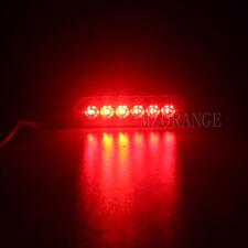 LED Car Truck Strobe Flash Warn Beacon Light Amber White Blue Red Green 12V-36V
