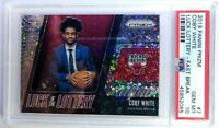 2019-20 Panini Prizm Luck of the Lottery Fast Break Coby White #7, PSA 10, Pop 5