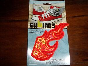 SHWINGS Flügel für Schuhe Flame Rot NEU