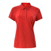 Fjall Raven Damen Freizeit Polo T-Shirt Größe L L Kurzärmelig Rot Authentisch