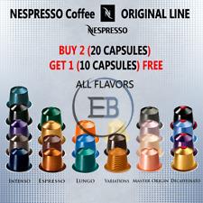 Nespresso Coffee 10 20 30 Capsules Pod Sleeve Original Line Lot BUY 2 GET 1 FREE