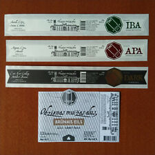 LATVIA CRAFT MINI BREWING - Lot of 4 different beer labels mint condion