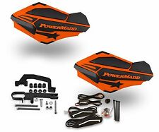 Powermadd Sentinel LED Handguards Orange Black Mount Ski Doo Hayes Snowmobile