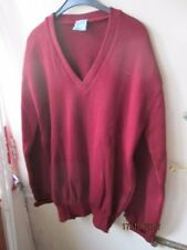 50/50 WOOL ACRYLIC V NECK JUMPER - NEW IN BAG - MADE IN ENGLAND BY SELECT