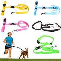 7 Colors Hands free Dog Lead Walking Running Jogging Waist Belt Leash Adjustable