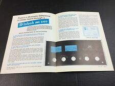 New listing Vtg Mcintosh Mc 2105 Solid State Stereo Amplifier Dealer Specifications Sheet Ad
