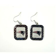 New England Patriots NFL Polka Dot Style Dangle Earrings
