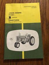 John Deere Model B Series Tractors Operators OMR2006 Manual SN- B201000 and U