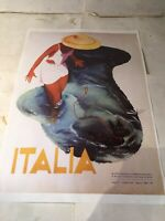 Vintage A3 Italy Travel Poster