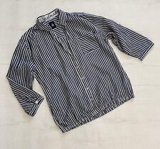 Gaastra Nautical White & Blue Striped Shirt Size L