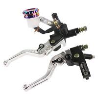 """7/8""""  Universal Motorcycle Front Brake Clutch Lever Master Cylinder Reservoir"""