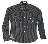 Fender Custom Shop Men's Size Medium Western Pearl Snap Shirt Long Sleeve