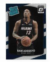 2017-18 Donruss optic basketball rated rookie Bam Adebayo rookie card RC