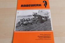 144524) Rabewerk Anbau-Beetpflug Drossel Fasan Fedomat Prospekt 06/1977