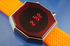 Awesome Modern Chunky 1970s Vintage Style Digital Retro Red LED Watch 12&24 hour