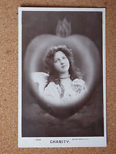R&L Postcard:  Portrait of Woman/Lady/Angel, Charity, Rotary