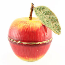 Red Apple Jewelry Trinket Box Decoration Collection Fruit Cute Gift 02035B