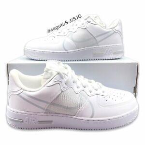 Nike Air Force 1 React Men's 12 White Platinum ShoesCT1020-101 New